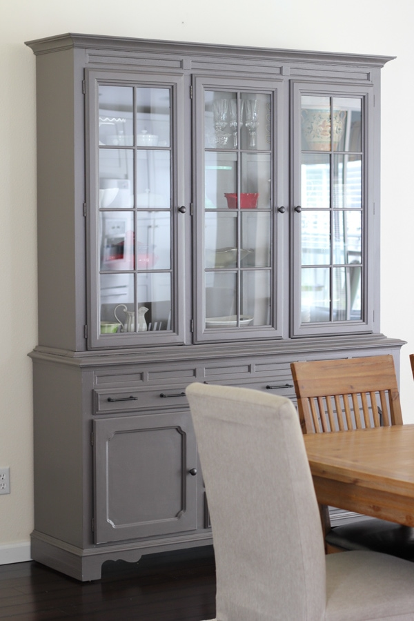 Painted China Cabinet-5