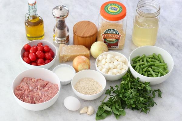 Chicken Meatballs With Caprese Couscous-1-21