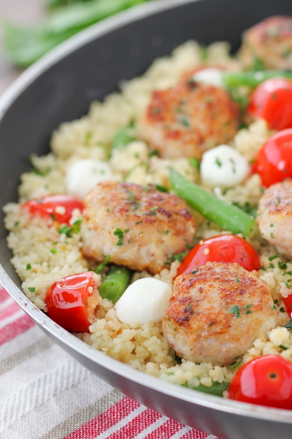 Chicken Meatballs With Caprese Couscous-20
