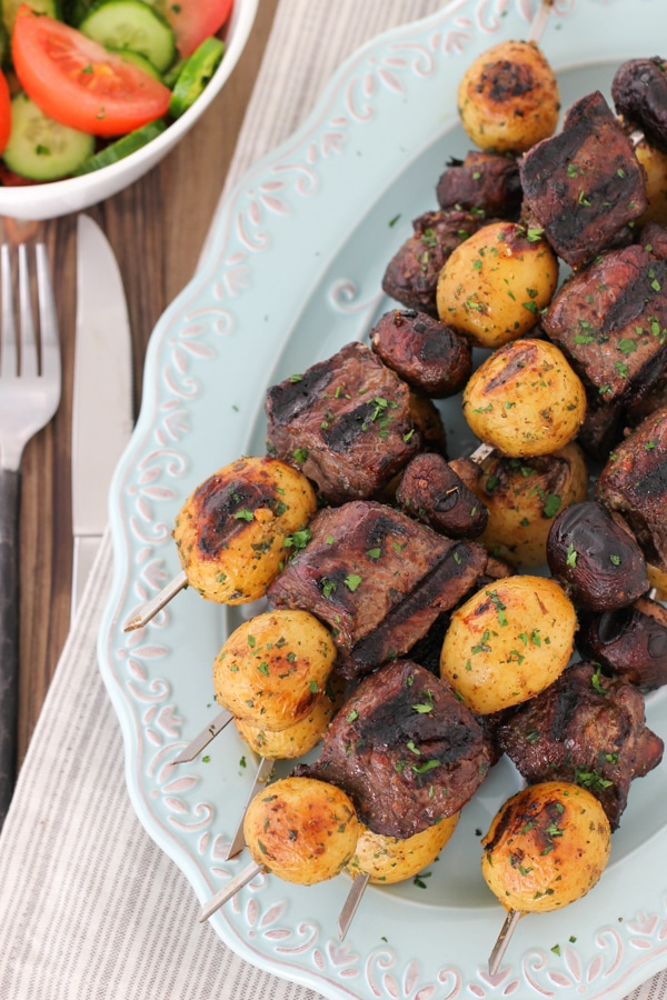Steak, Mushroom and Potato Kebabs-10