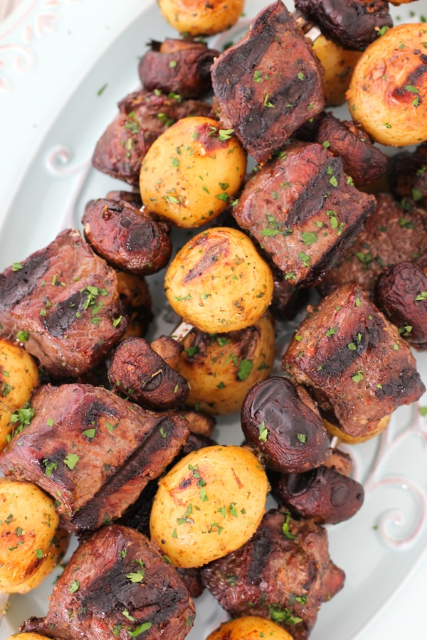 Steak, Mushroom and Potato Kebabs-11