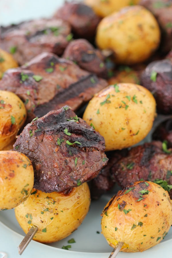 Steak, Mushroom and Potato Kebabs-12