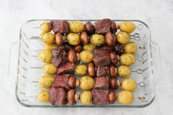 Steak, Mushroom and Potato Kebabs-6