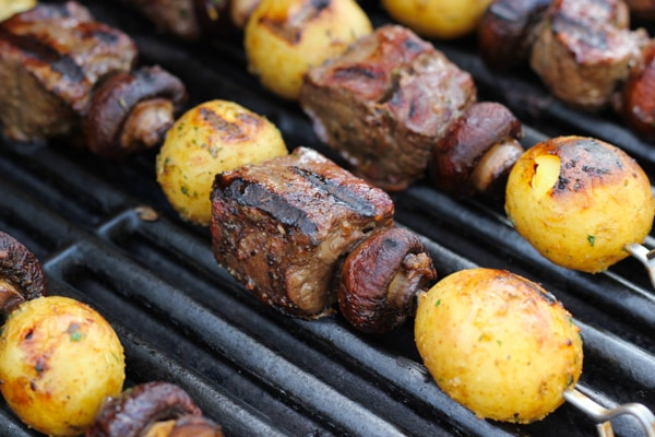 Steak, Mushroom and Potato Kebabs-8