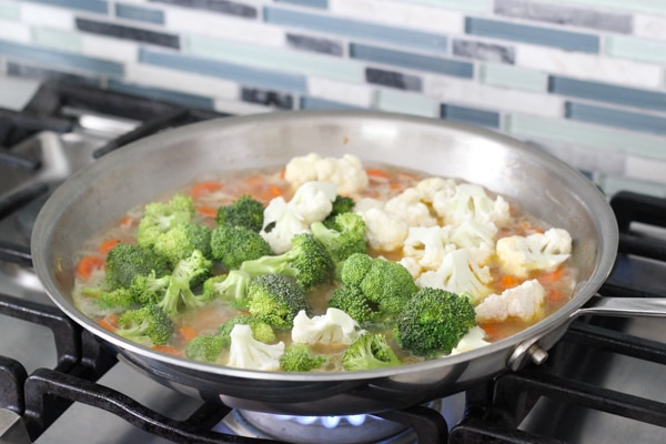 Easy Chicken, Broccoli, Cauliflower and Carrots in a Cream Sauce-1-22