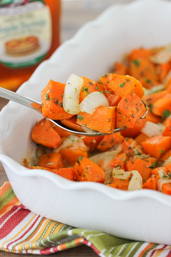 Roasted Sweet Potatoes With Onions-1-7
