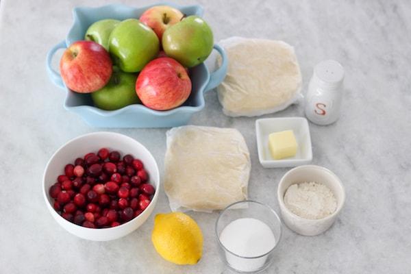 Apple Cranberry Pie ingredients