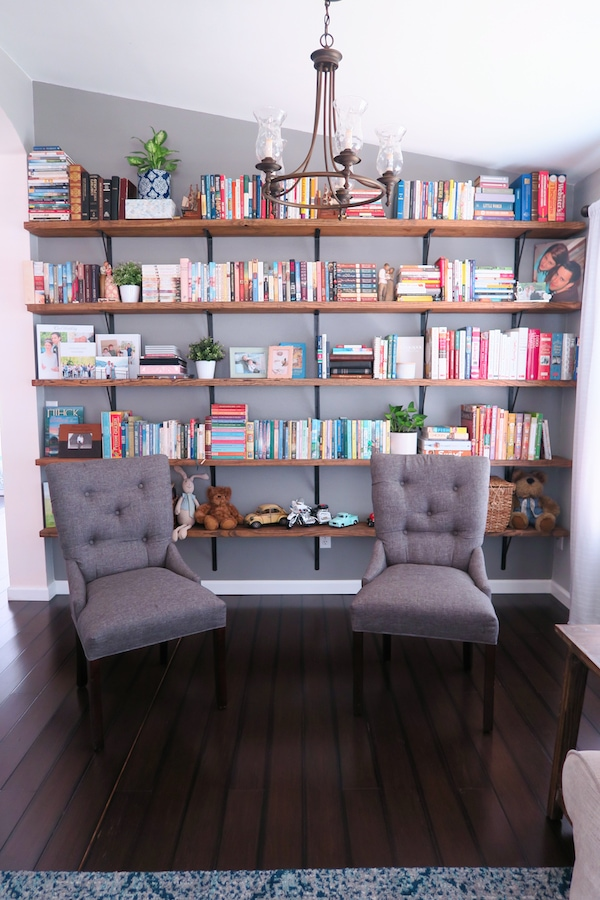 Our Living Room Home Library Shelves
