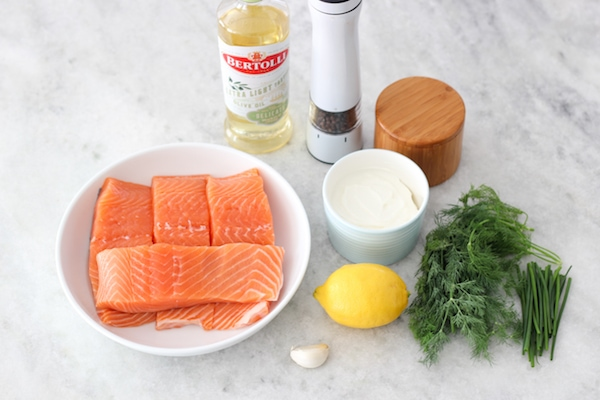 Roasted Salmon With Yogurt Dill Sauce - Olga's Flavor Factory