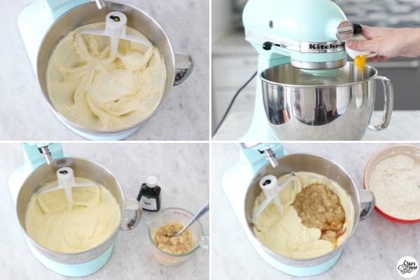 How to make banana coffeecake - batter tutorial