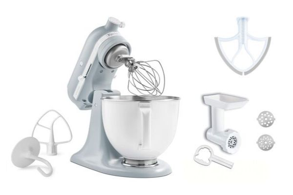 Kitchen-Aid-Stand-Mixer-With-paddle-attachment-and-food ...