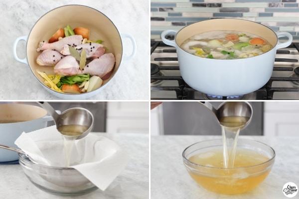 chicken broth tutorial