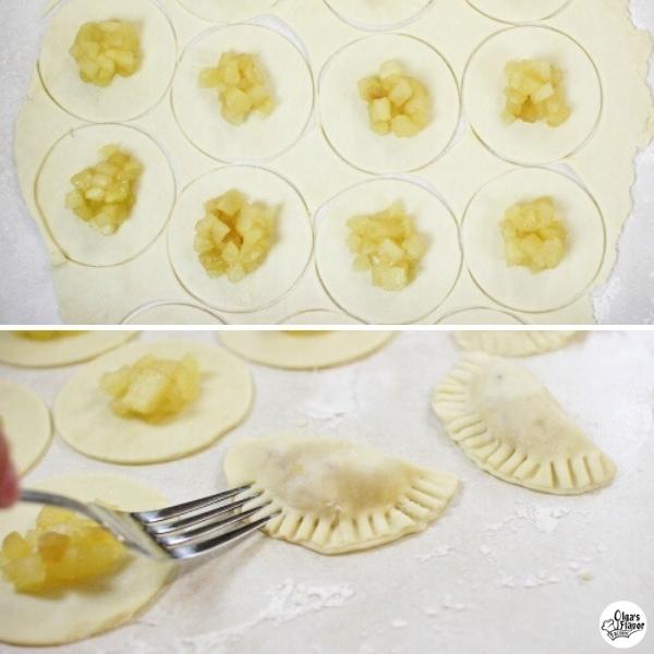 Assembling the Apple Pie Cookies