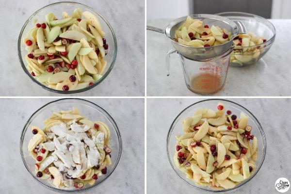 Apple Cranberry Pie Filling tutorial