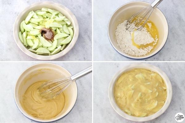 Swiss Apple Pie tutorial (step by step recipe)
