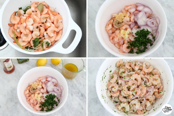 How to Marinate Shrimp tutorial for a cold and flavorful appetizer