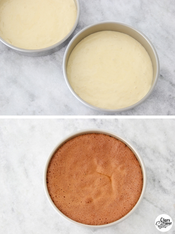 Baking the Honey Cake Layers