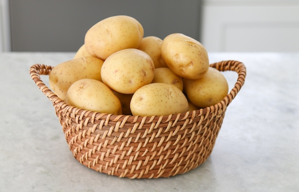 Yellow Gold Potatoes in a basket