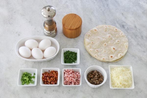 Ingredients For Breakfast Quesadillas
