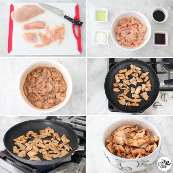How to prepare and cook velveted chicken for stir fry, making it really tender.