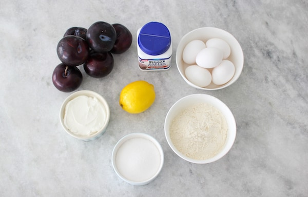 Ingredients for Plum Coffee Cake