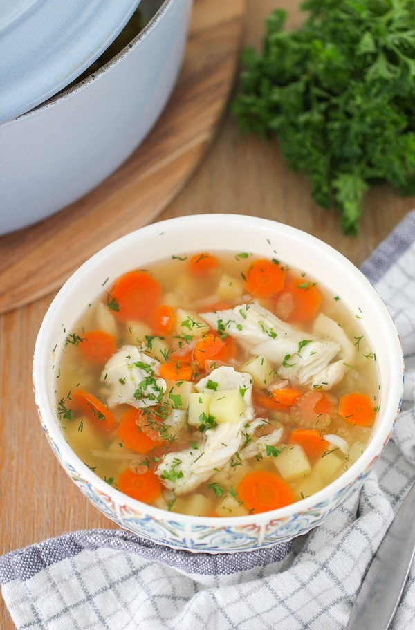 Russian Fish Soup made from whole fish trout Ukha Easiest and healthiest fish soup