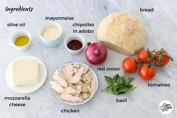 Ingredients for the Frontega Chicken Sandwiches