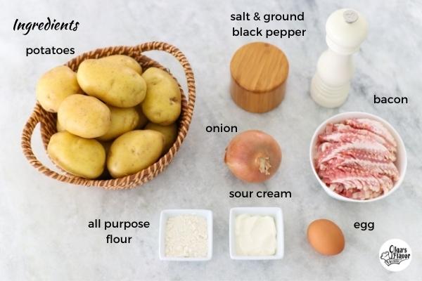 Ingredients for Potato Babka