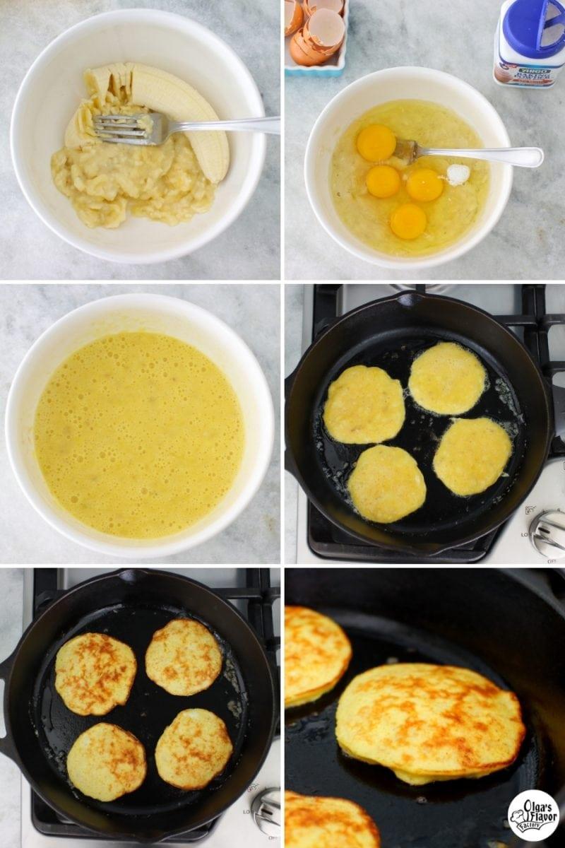 How to make banana egg pancakes tutorial