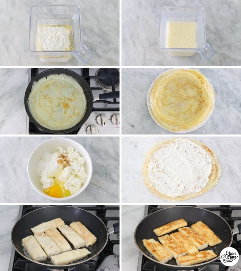 How to make cheese blintzes