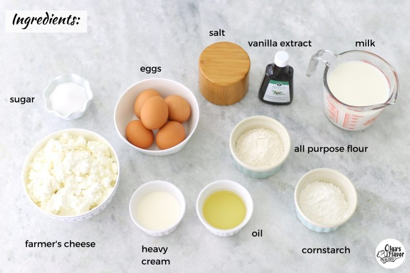 Ingredients For Cheese Blintzes