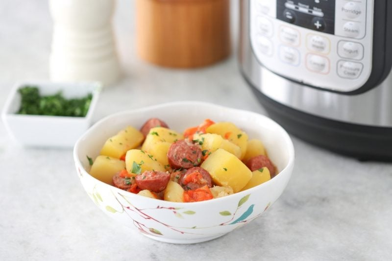Instant pot Potatoes with sausage