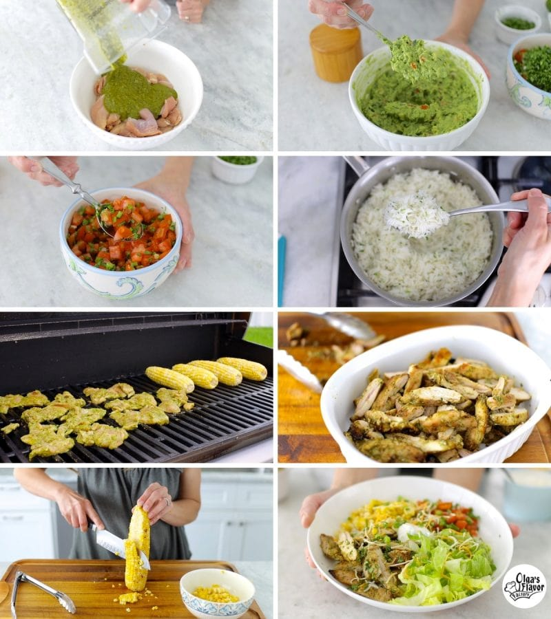 How To Make Chicken Burrito Bowls step by step tutorial