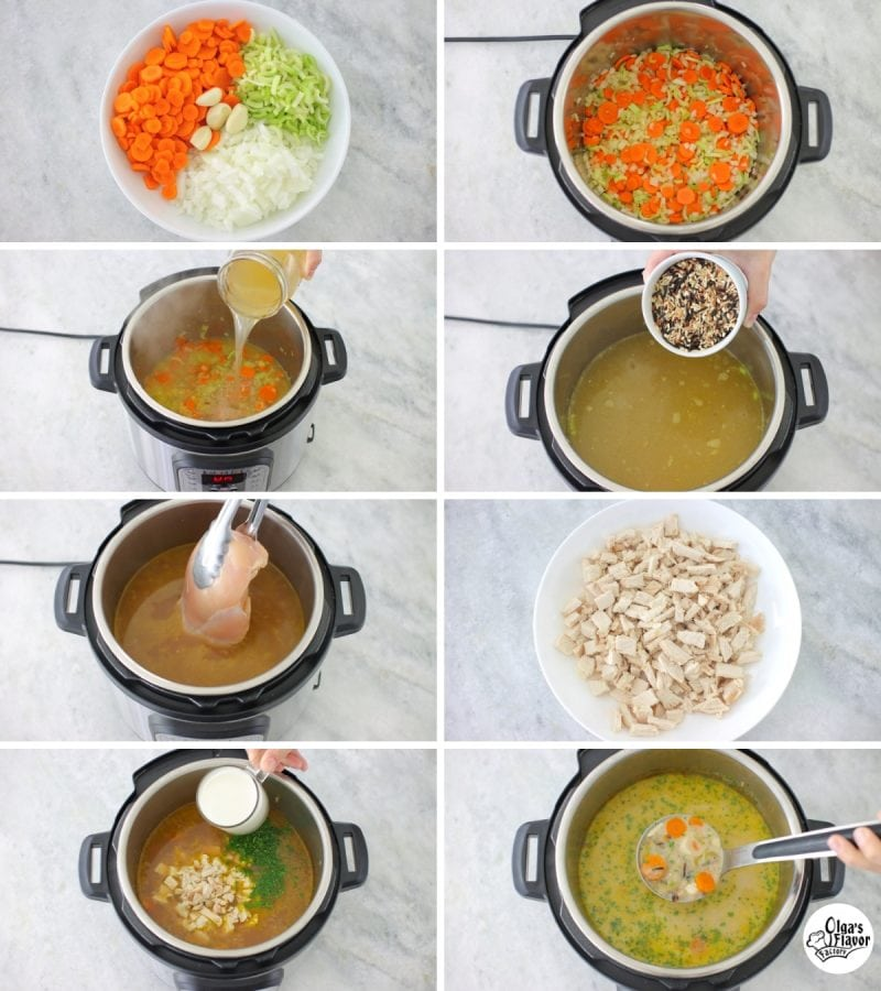 How to make chicken and wild rice soup in the Instant Pot