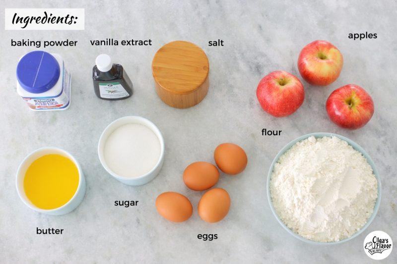 Ingredients for Apple Cookies