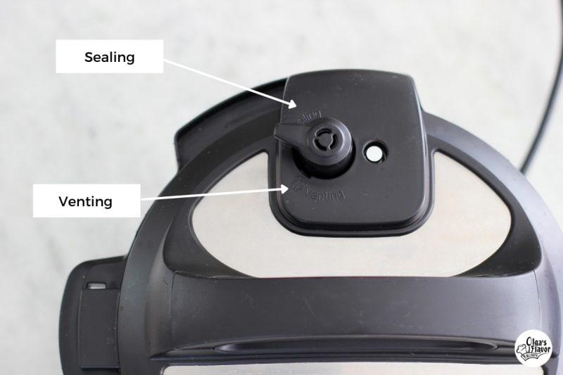 Instant Pot Pressure valve on the lid